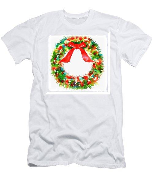 Watercolor Wreath Men's T-Shirt (Athletic Fit)