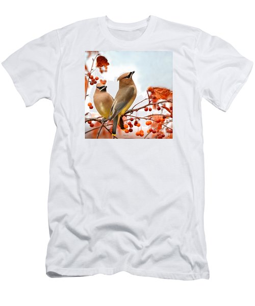 Beautiful Waxwing  Men's T-Shirt (Slim Fit) by Nava Thompson