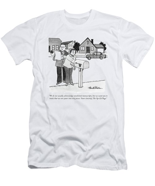 We Do Not Usually Acknowledge Unsolicited Men's T-Shirt (Athletic Fit)