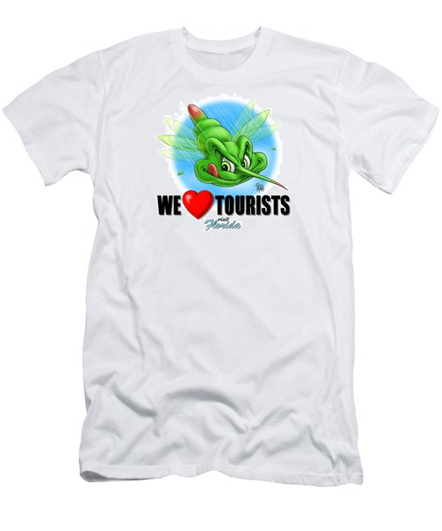 We Love Tourists Mosquito Men's T-Shirt (Slim Fit) by Scott Ross