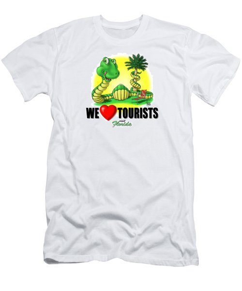 We Love Tourists Snake Men's T-Shirt (Slim Fit) by Scott Ross