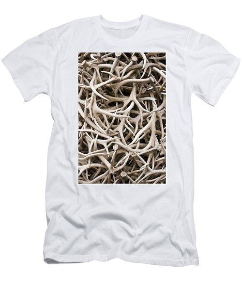 Weathered Elk Antlers Men's T-Shirt (Athletic Fit)