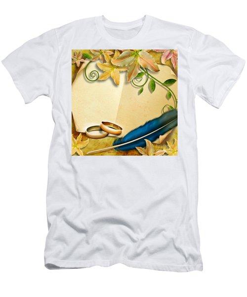 Wedding Memories V4 Natural Men's T-Shirt (Athletic Fit)