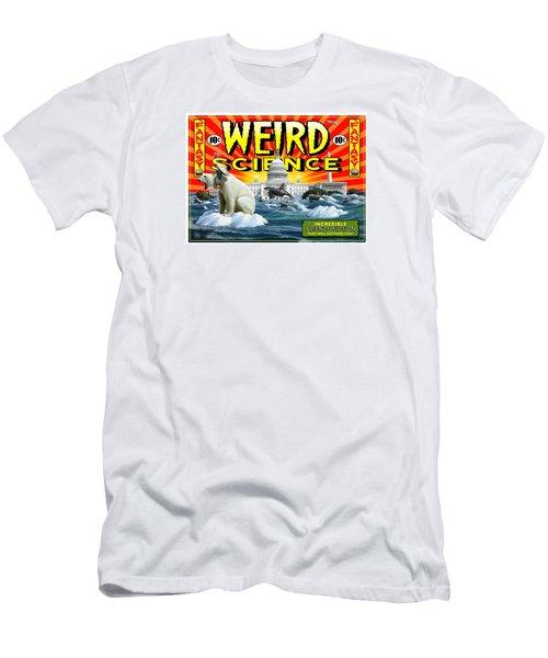 Men's T-Shirt (Slim Fit) featuring the digital art Weird Science by Scott Ross