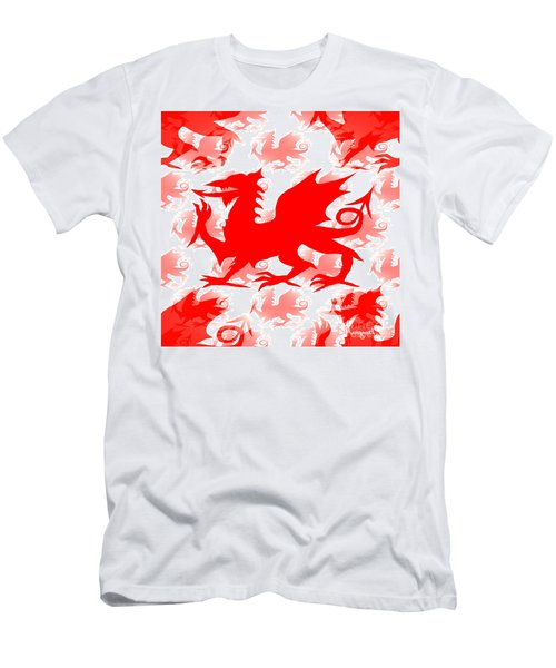 Welsh Dragon Men's T-Shirt (Athletic Fit)