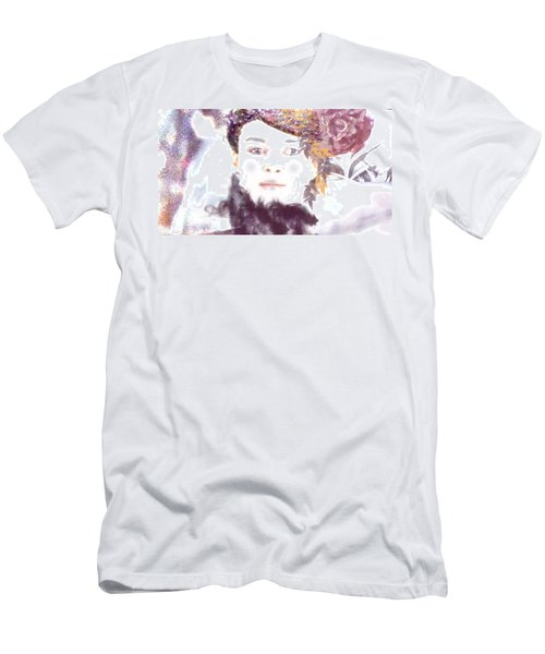 Men's T-Shirt (Slim Fit) featuring the digital art Wendy Waits by Kim Prowse
