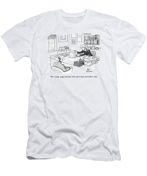 We're Really Men's T-Shirt (Athletic Fit)