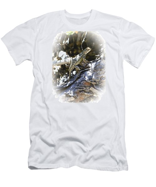 Western Fence Lizard Aka Blue-belly Lizard Men's T-Shirt (Athletic Fit)