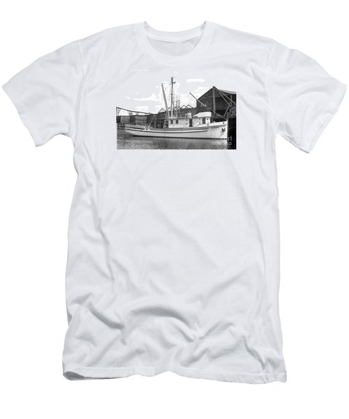 Western Flyer Purse Seiner Tacoma Washington State March 1937 Men's T-Shirt (Slim Fit) by California Views Mr Pat Hathaway Archives
