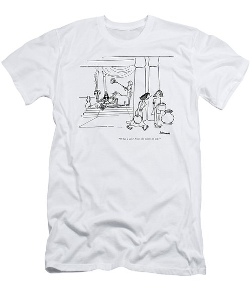 What A Day! Now She Wants An Asp! Men's T-Shirt (Athletic Fit)