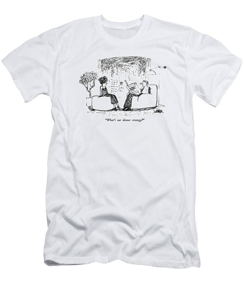 What's Our Dinner Strategy? Men's T-Shirt (Athletic Fit)