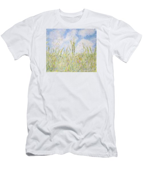 Wheat Field And Wildflowers Men's T-Shirt (Athletic Fit)