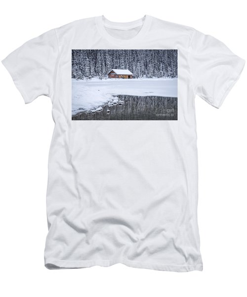 When It Snows Outside Men's T-Shirt (Athletic Fit)