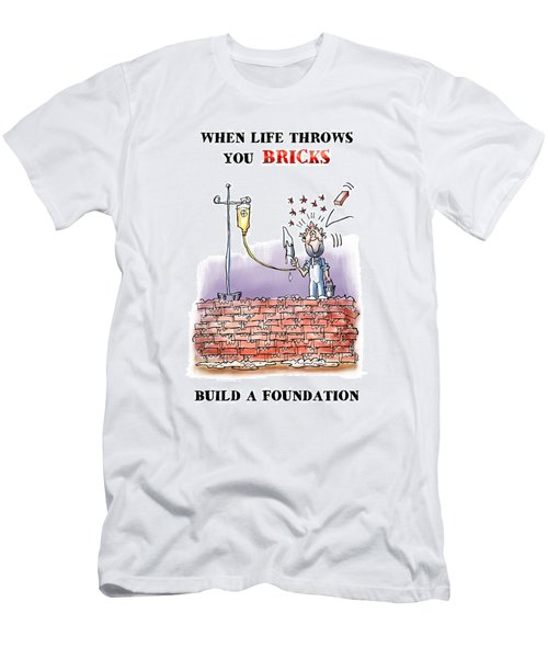 When Life Throws You Bricks Men's T-Shirt (Athletic Fit)