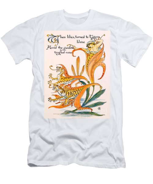 When Lilies Turned To Tiger Blaze Men's T-Shirt (Athletic Fit)