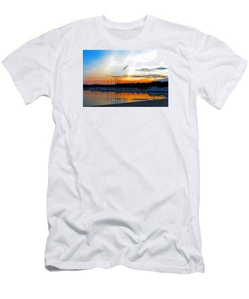 When The Sun Goes Down Men's T-Shirt (Slim Fit) by Susan  McMenamin