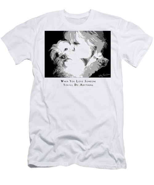 Men's T-Shirt (Athletic Fit) featuring the digital art When You Love Someone by Kathy Tarochione