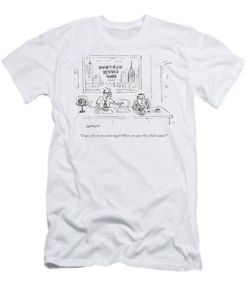 Where Are Your New York Values Men's T-Shirt (Athletic Fit)