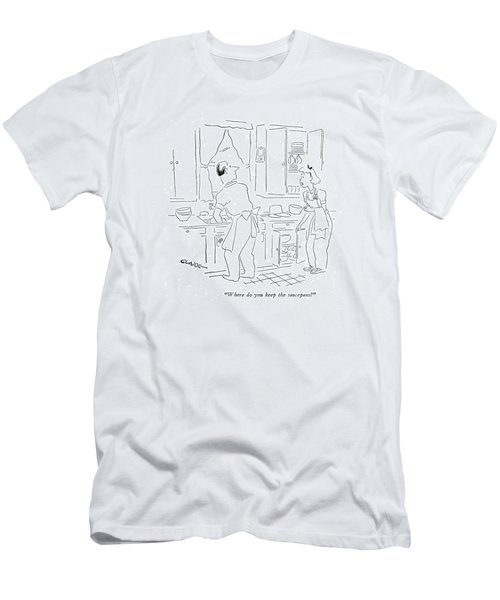 Where Do You Keep The Saucepans? Men's T-Shirt (Athletic Fit)