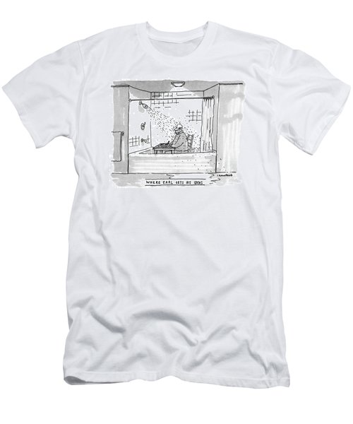 Where Earl Gets His Ideas Men's T-Shirt (Athletic Fit)