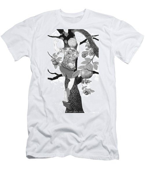Men's T-Shirt (Slim Fit) featuring the digital art Where The Best Apples Are by Carol Jacobs
