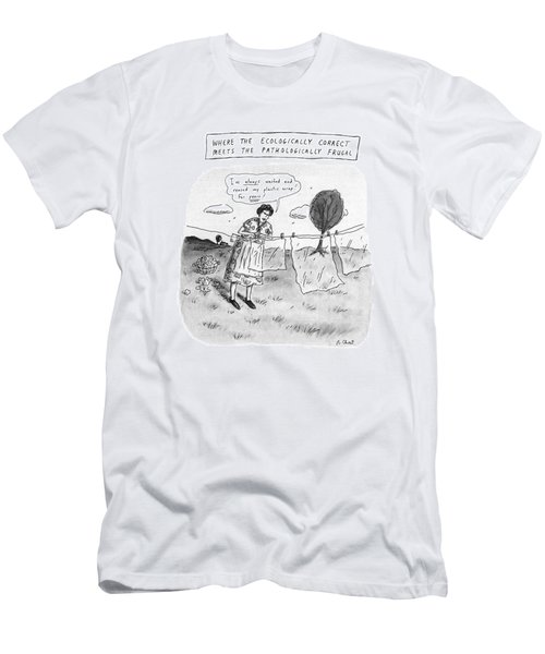 Where The Ecologically Correct Meets Men's T-Shirt (Athletic Fit)