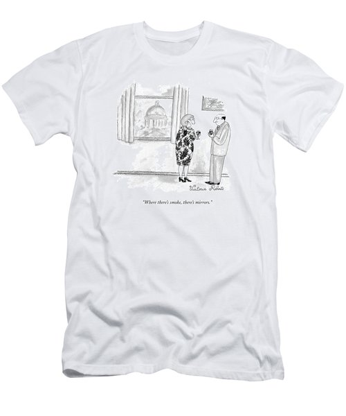 Where There's Smoke Men's T-Shirt (Athletic Fit)
