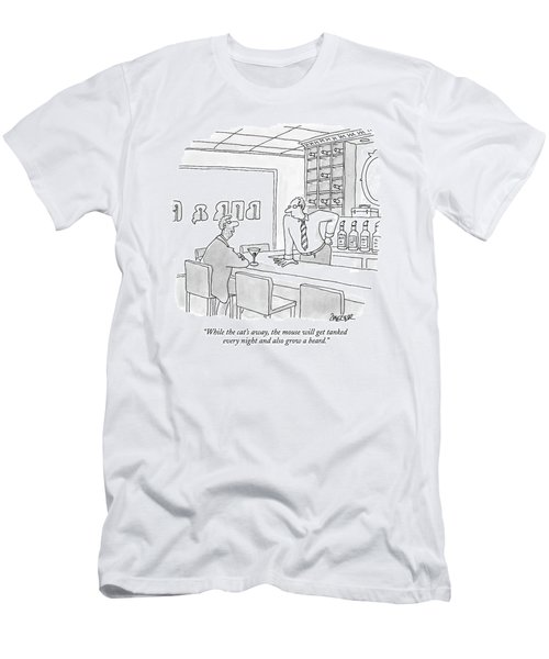 While The Cat's Away Men's T-Shirt (Athletic Fit)