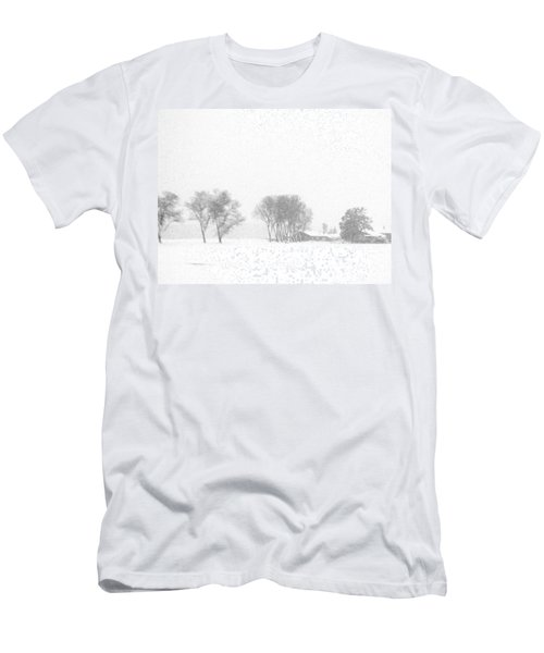 White Men's T-Shirt (Athletic Fit)