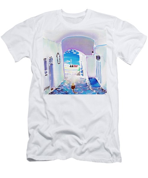 White And Blue 1 Men's T-Shirt (Athletic Fit)