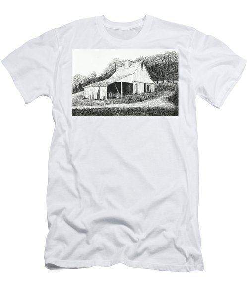 White Barn On Bluff Road Men's T-Shirt (Athletic Fit)