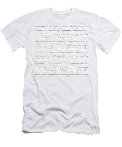 White Brick Wall Men's T-Shirt (Athletic Fit)