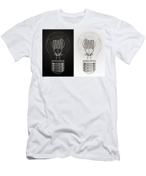 White Bulb Black Bulb Men's T-Shirt (Athletic Fit)