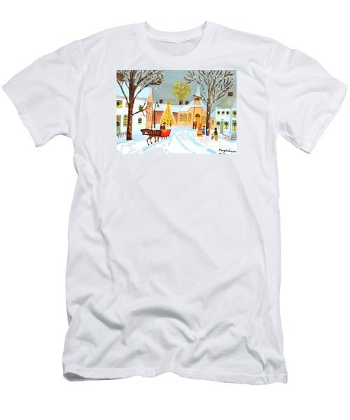 White Christmas Men's T-Shirt (Slim Fit) by Magdalena Frohnsdorff