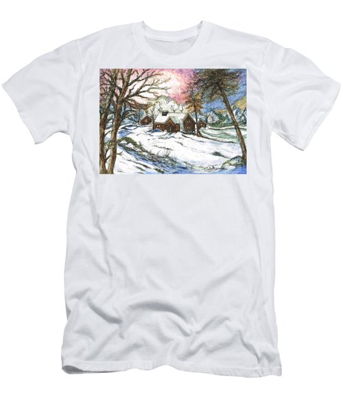 White Christmas Men's T-Shirt (Athletic Fit)