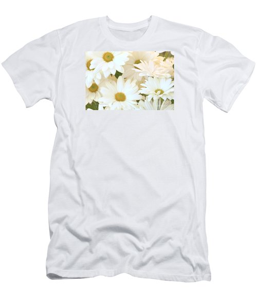 White Chrysanthemums Men's T-Shirt (Athletic Fit)