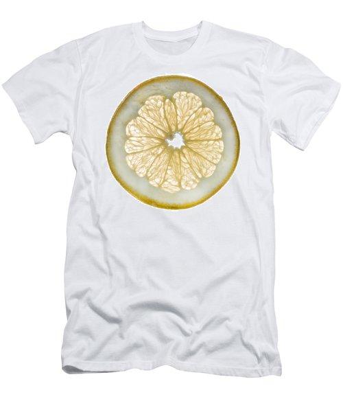 White Grapefruit Slice Men's T-Shirt (Slim Fit) by Steve Gadomski