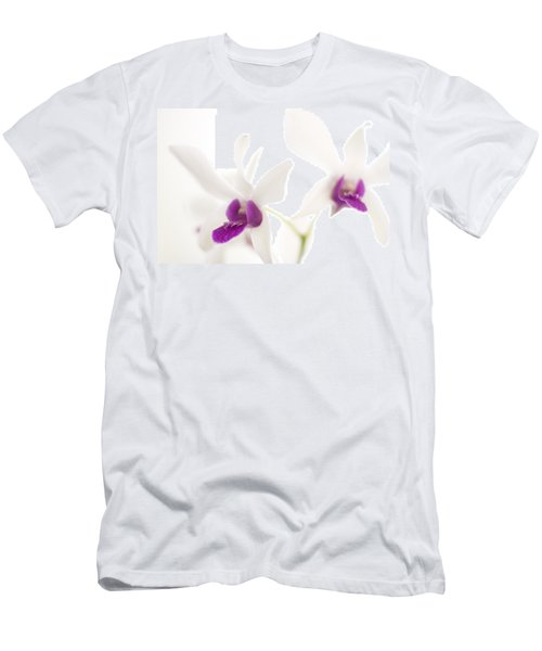 White Orchids Men's T-Shirt (Slim Fit) by Bradley R Youngberg