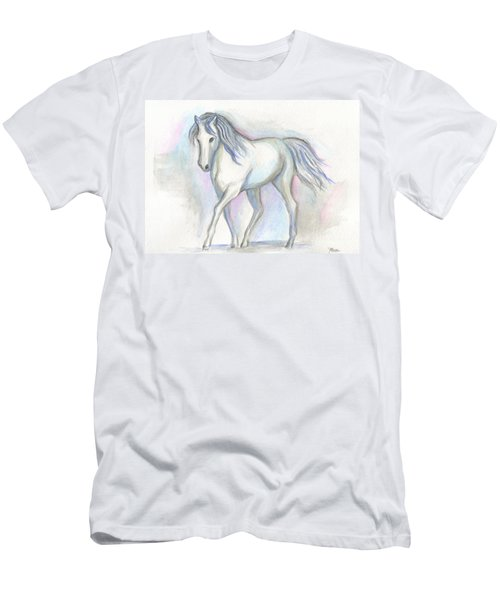White Pony Men's T-Shirt (Athletic Fit)