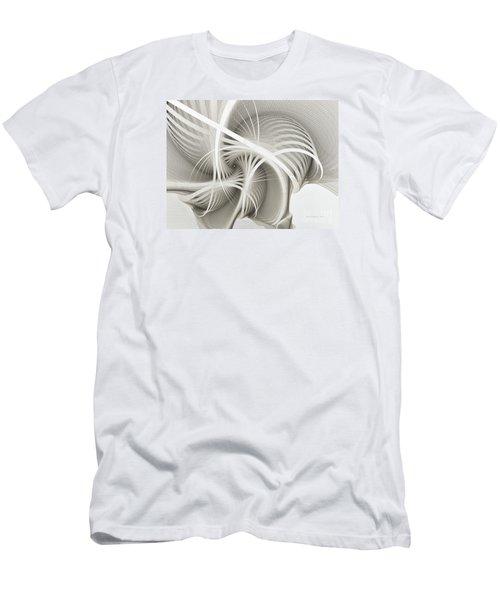 White Ribbons Spiral Men's T-Shirt (Slim Fit) by Karin Kuhlmann