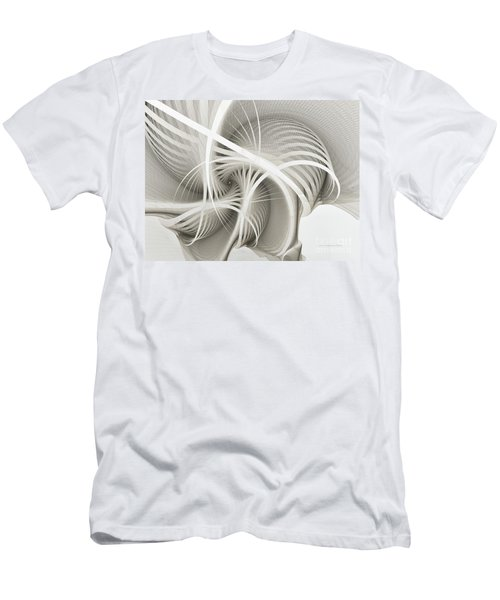 White Ribbons Spiral Men's T-Shirt (Athletic Fit)