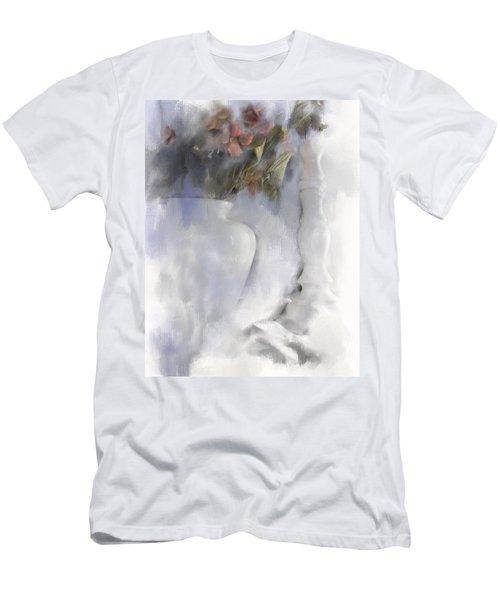 White Still Life Vase And Candlestick Men's T-Shirt (Athletic Fit)