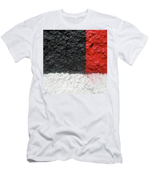 White Versus Black Over Red Men's T-Shirt (Athletic Fit)
