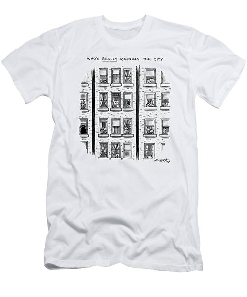 Who's Really Running The City Men's T-Shirt (Athletic Fit)