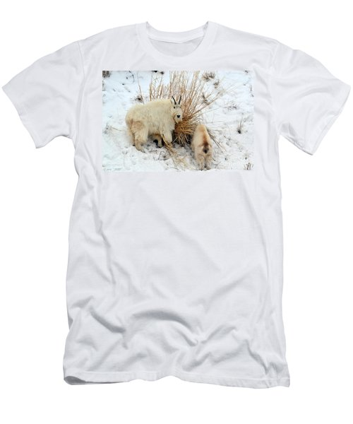 Men's T-Shirt (Athletic Fit) featuring the photograph Why Are You Watching Me by Dorrene BrownButterfield