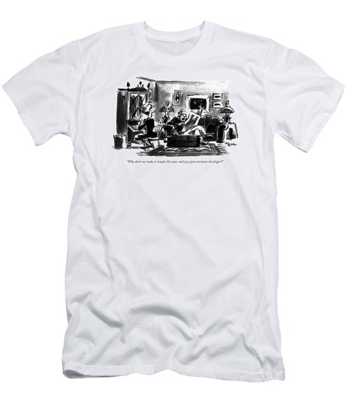 Why Don't We Make It Simple This Year Men's T-Shirt (Athletic Fit)