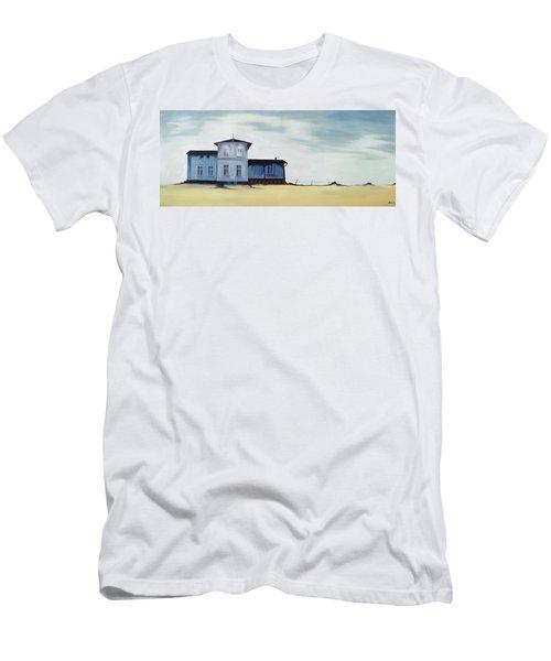 Wide Blue Men's T-Shirt (Athletic Fit)