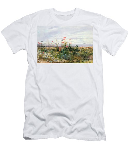 Wildflowers With A View Of Dublin Dunleary Men's T-Shirt (Athletic Fit)