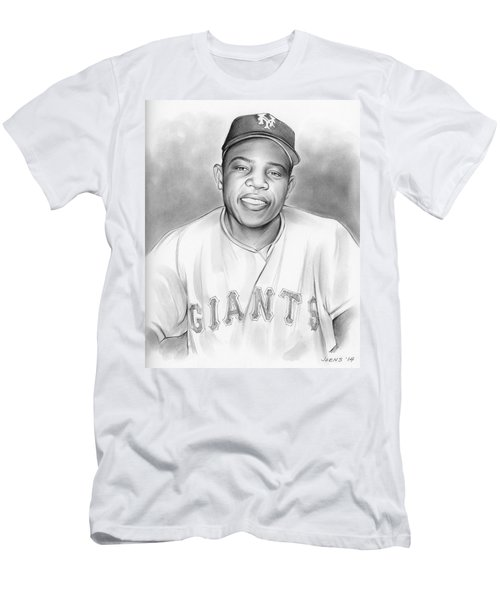 Willie Mays Men's T-Shirt (Slim Fit) by Greg Joens