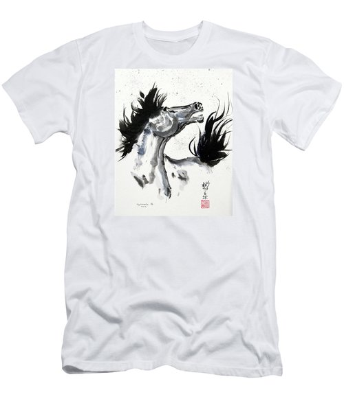 Men's T-Shirt (Slim Fit) featuring the painting Wind Fire by Bill Searle